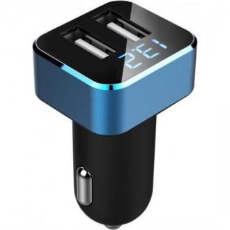 Автомобильное зарядное устройство Neoline Volter D2 Blue/Black