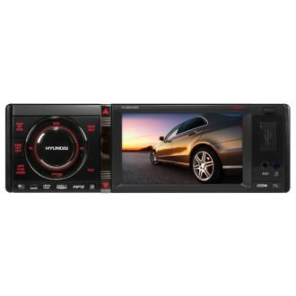 Автомобильная магнитола с DVD + монитор Hyundai H-CMD4028