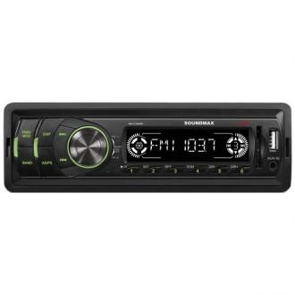 USB-Автомагнитола Soundmax SM-CCR3050F Black/Green