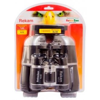 Комплект биноклей Rekam  7x50 4x30 черный