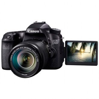 Фотоаппарат зеркальный Canon EOS 70D Kit EF-S 18-135 IS STM Black