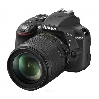 Фотоаппарат зеркальный Nikon D3300 Kit 18-105 VR Black