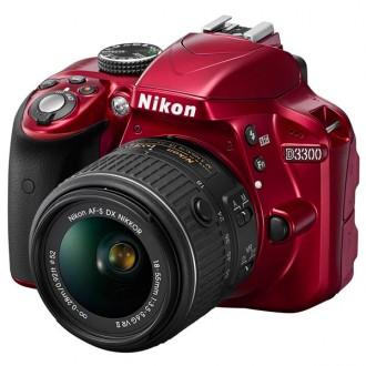 Фотоаппарат зеркальный Nikon D3300 Kit 18-55 VR Red