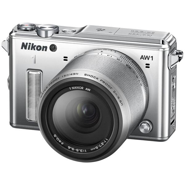 Фотоаппарат Nikon 1 AW1 Kit 11-27.5 mm Silver