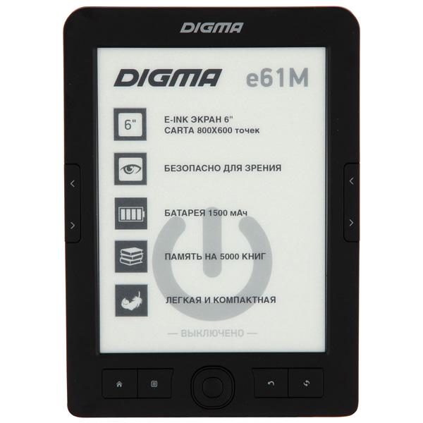 Электронная книга Digma E61M (E61MBK)Black E61MBK