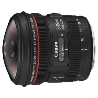 Объектив премиум Canon EF 8-15mm f/4L Fisheye USM