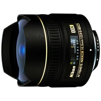 Объектив для зеркального фотоаппарата Nikon 10.5mm f/2.8G ED DX Fisheye-Nikkor