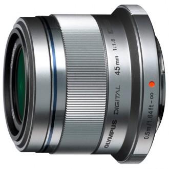 Объектив для системного фотоаппарата Olympus 45mm f/1.8 Silver