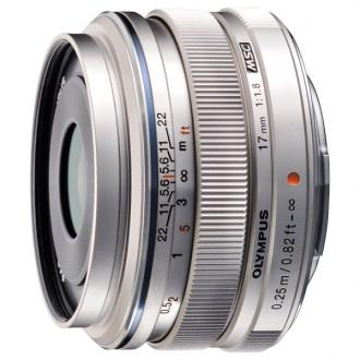 Объектив для системного фотоаппарата Olympus 17mm f/1.8 Silver