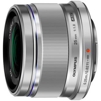 Объектив для системного фотоаппарата Olympus 25mm f/1.8 Silver