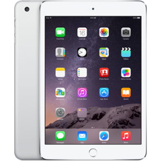 Планшет Apple iPad mini 3 128Gb Wi-Fi + Cellular Silver MGJ32RU/A