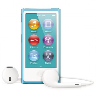Плеер MP3 Apple iPod nano 7 16Gb Blue MD477RU/A