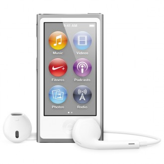 Плеер MP3 Apple iPod nano 7 16Gb Silver MD480RU/A