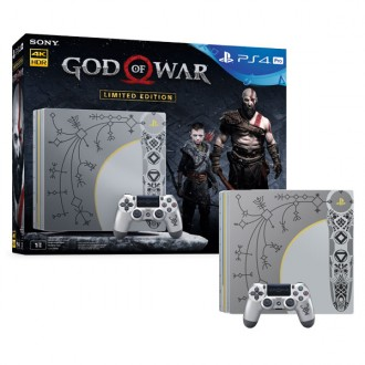 Игровая консоль PlayStation 4 Pro 1TB God of War Limited Edition Silver