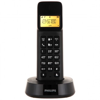 Радиотелефон Philips D1401 Black