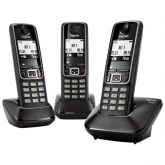 Радиотелефон Gigaset A420 Trio Black