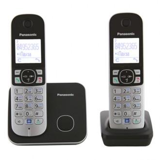 Радиотелефон DECT Panasonic KX-TG6812RUB Black