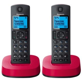 Радиотелефон DECT Panasonic KX-TGC312RUR Black/Red