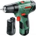 Дрель-шуруповерт Bosch EasyDrill 12-2 2.5Ah x2 Case (060397290x)Green