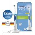 Электрическая зубная щетка Oral-B Vitality Precision Clean WHite/Blue